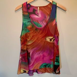 Love In - Vibrant Feathered Tank Top